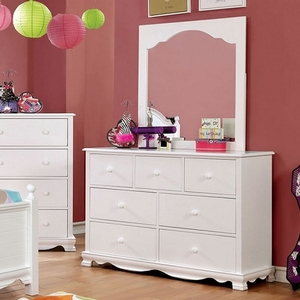 Item # 062DR 7 Drawer Dresser in White - Finish: White<br><br>Available in Pink Finish<br><br>Dimensions: 48