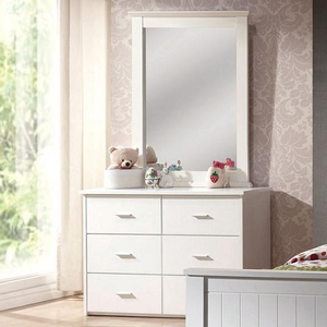 062M Mirror - Finish: White<br><br>*Dresser Sold Separately*<br><br>Dimensions: 30