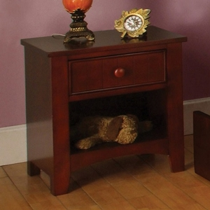 062NS Nightstand in Cherry - Finish: Cherry<br><br>Available in White<br><br>Dimensions: 19