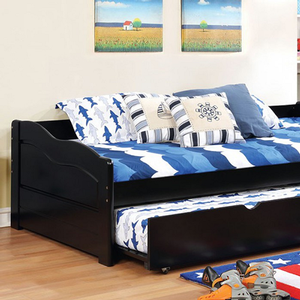 063DB Twin Daybed w/ Trundle - Finish: Black<br><br>Available in White, Espresso or Cherry Finish<br><br>Twin Trundle Included<br><br>Slat Kit Included<br><br>Dimensions: 79 1/8