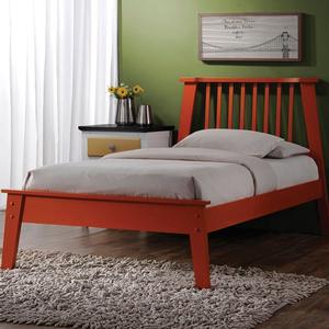 065FB Full Modern Orange Bed  - Finish: Orange<br><br>Dimensions: 80