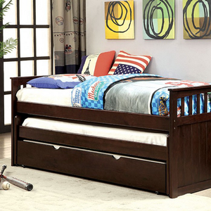 066DB Daybed w/ Double Trundle - Finish: Espresso<br><br>Slat Kit Included<br><br>Dimensions: 81 1/4