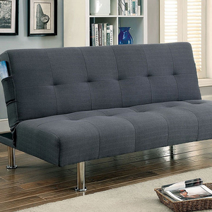 Item # 069FN Gray Futon - Finish: Gray<br><br>Available in Blue, Dark Teal, Green & Ivory<br><br>