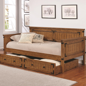 070DB Twin Daybed with Trundle - Finish: Rustic Honey<br><br>Storage Trundle Sold Separately<br><br>Dimensions: 81.25