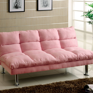 Item # 071FN Futon - Finish: Pink<br><br>Dimensions: Sofa - 67W x 28D x 31H<br><br>Seat Ht: 17 Seat Dp: 18<br><br>Bed - 67W x 40D x 17H
