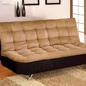 Item # 073FN Futon - Finish: Tan and Black<br><br>Dimensions: Sofa - 70 1/2W x 38D x 35 1/2H<br><br>(Seat Ht: 16 1/2, Seat Dp: 22)<br><br>Bed - 70 1/2W x 47 1/2D x 16H