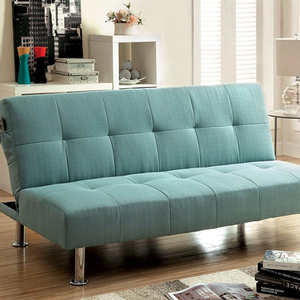 Item # 079FN Futon Sofa in Blue - Finish: Blue<br><br>Available in Gray, Dark Teal, Green & Ivory Fabric<br><br>