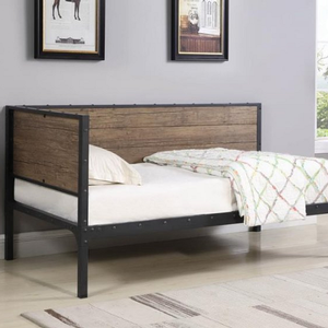 040MDB Twin Daybed  - Finish: Weathered Black<br><br>Slat Kit Included<br><br>Dimensions: 78.25