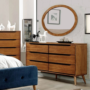 Item # 080M Oval Mirror in Oak - Finish: Oak<br><br>Available in White, Black or Gray Finish<br><br>Dimensions: 40