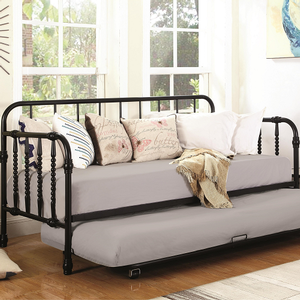 081DB Twin Daybed w/ Trundle - Finish: Black<br><br>Available in White<br><br>Slat Kit Included<br><br>Dimensions: 79.75