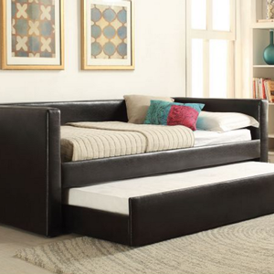 082DB Simple Upholstered Daybed - Finish: Black<br><br>No Box Spring Required<br><br>Dimensions: 88 x 43 x 34H