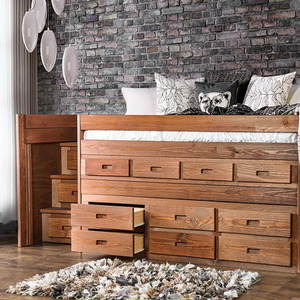 Item # 043LB JR Loft Bed w/ Steps - Finish: Mahogany<br><br>Style: Rustic<br><br>Foundation Required<br><br>Dimensions: 82