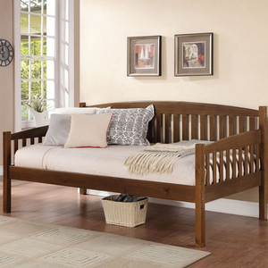 084DB Slatted Twin Bed - Finish: Antique Oak<br><br>DImensions: 80 x 42 x 37