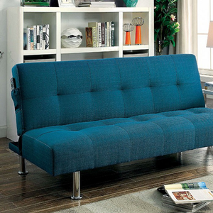 Item # 085FN Futon Sofa - Finish: Dark Teal<br><br>Available in Gray, Blue, Green & Ivory Fabric<br><br>