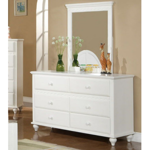 085M Mirror - Finish: White<br><br>*Dresser Sold Separately<br><br>Dimensions: 30