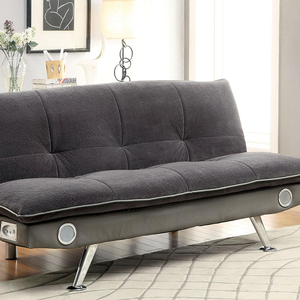 Item # 086FN FUTON SOFA - Finish: Gray<br><br>Available in Dark Brown