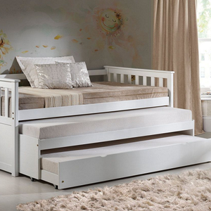 089DB Daybed w/ Pull-out Bed Daybed - Finish: White<br><br>Trundle Sold Separately<br><br>Dimensions: 80
