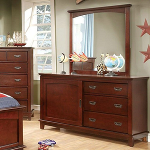 090M Mirror - Finish: Cherry<br><br>*Dresser Sold Separately<br><br>Dimensions: 37