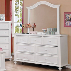 091M Mirror in White - Finish: White<br><br>*Dresser Sold Separately<br><br>Available in Dark Walnut