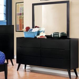 092M Rectangular Mirror - Finish: Black<br><br>Available in Oval Mirror<br><br>Available in White<br><br>Dimensions: 40