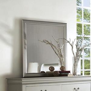 095M Platinum Mirror - Finish: Platinum<br><br>*Dresser Sold Separately<br><br>Dimensions: 26