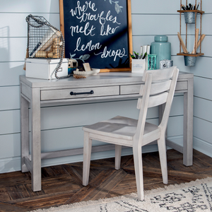 Item # 096D - Finish: Stone Path White<br><br>Available in Tree House Brown<br><br>*Desk Chair Sold Separately**<br><br>Dimensions: 52W x 18D x 30H