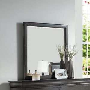 096M Mirror in Dark Gray - Finish: Dark Gray<br><br>*Dresser Sold Separately*Available in Black, Cherry, Antique Gray, White & Platinum<br><br>Dimensions: 36