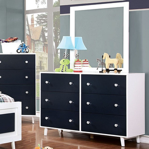 098M Mirror - Finish: White<br><br>Dresser Sold Separately<br><br>Dimensions: 32 1/4