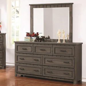 100M Mirror  - Finish: Gunsmoke<br><br>Dresser Sold Separately<br><br>Dimensions: 44W  x 1.5D  x 38H