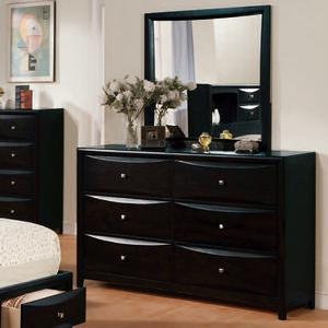 103M Mirror - Finish: Black<br><br>Dresser Sold Separately<br><br>Dimensions: 31