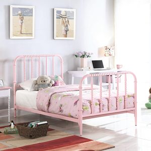 1045FMB Full Spindle Bed in Pink - Finish: Pink<br><br>Available in Twin Size<br><br>Foundation Required<br><br>Dimensions: 57.25