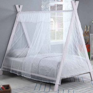 1045TMB Twin Tent Bed - Finish: Pink<br><br>Slat Kit Included<br><br>Dimensions: 77.5