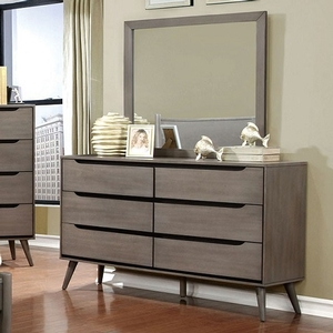 Item # 105DR Modern 6 Drawer Dresser in Gray - Finish: Gray<br><br>Available in White, Black or Oak Finish<br><br>Dimensions:
