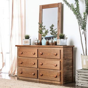 Item # 105DR 6 Drawer Dresser - Finish: Mahogany<br><br>Style: Rustic<br><br>Made in USA<br><br>Dimensions: 53