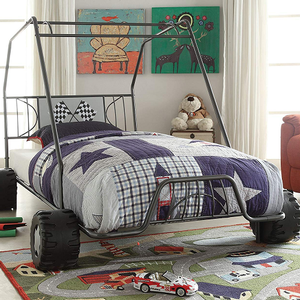 1061TB Twin Go Kart Bed in Gun Metal - Finish: Gunmetal<br><br>No Box Spring Required<br><br>Dimensions: 84
