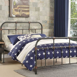 Item # A0019MB - Full Size Bed<br>Available in Twin Size<br>Finish: Sandy Gray<br>Dimensions: 80 x 58 x 45H