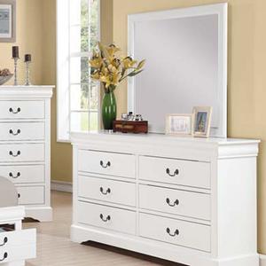 Item # 108DR 6 Drawer White Dresser - Finish: White<br><br>Mirror Sold Separately<br><br>Dimensions: 60