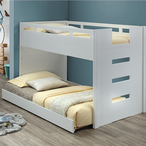 109LB Twin Loft Bed in White - Finish: White<br><br>Trundle Sold Separately<br><br>Slat Kit Included<br><br>Dimensions: 78