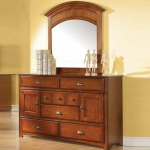 Item # 065DR Antique Oak 8 Drawer Dresser - *Mirror Sold Separately*