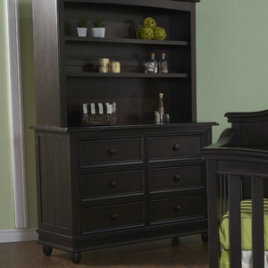 Item # 110DR 6 Drawer Dresser - Finish: Onyx<br><br>Available in White, Slate & Stone Finish<br><br>Dimensions: 50W x 20D x 36H