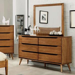 Item # 115DR Modern 6 Drawer Dresser in Oak - Finish: Oak<br><br>Available in White, Black or Gray<br><br>Dimensions: 58