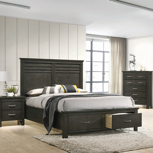 Item # 1199F Full Storage Bed - Finish: Bark Wood<br><br>Available in twin size<br><br>Box spring not required<br><br>Dimensions: 58.50W x 82.25D x 54.75H