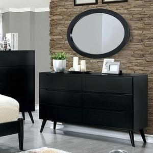 Item # 125DR Modern 6 Drawer Dresser - Finish: Black<br><br>Available in White<br><br>Dimensions: 58