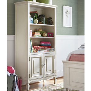 Item # 127BC Storage Bookcase - Finish: Cotton<br><br>Dimensions: 36W x 16D x 68H