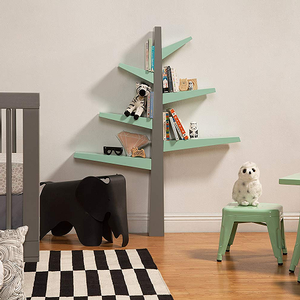 Item # 129BC Tree Bookcase - Finish: Grey/Cool Mint<br><br>Available in Grey, White & Green Finish<br><br>Dimensions: 6