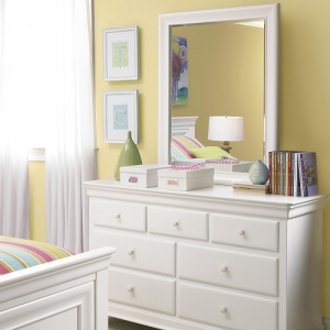 Item # 016M Mirror - <b>Dresser Sold Separately</b><br><Br>Beveled mirror can be positioned vertically or horizontally<br><br>