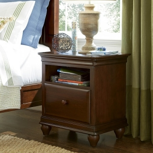 095NS Nightstand - Self-closing drawers<br><br>Touch lighting<br><br>Lift lid with power outlet<br><br>Built-in night light<br><br>