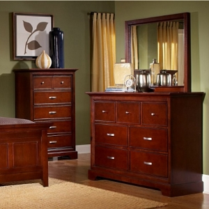 886M Mirror - Traditional style dresser with finished drawer interior and metal glides<br><br>