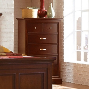074CH Chest - Traditional style chest with finished drawer interior and metal glides<br><br>Transitional Style<br><br> Dust Proof Panel<br><br>