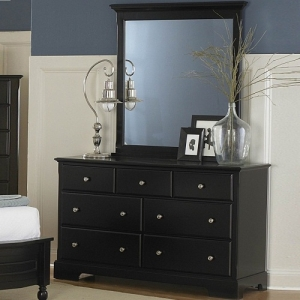 Item # 057DR Dresser - Molded drawer fronts and satin nickel knobs<br><br>